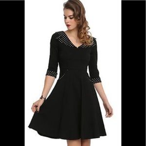 Hell Bunny Vixen Dress Size XL Black & Polka Dot